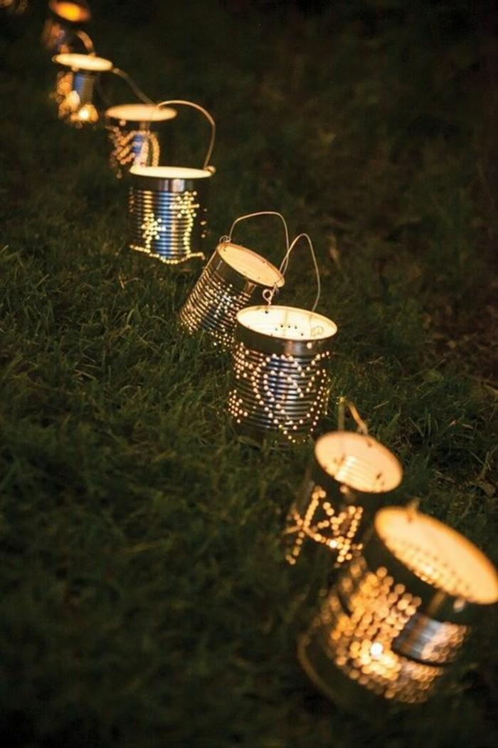 adorables ideas de manualidades con latas para decorar el patio, linternas caseras con materiales reciclados