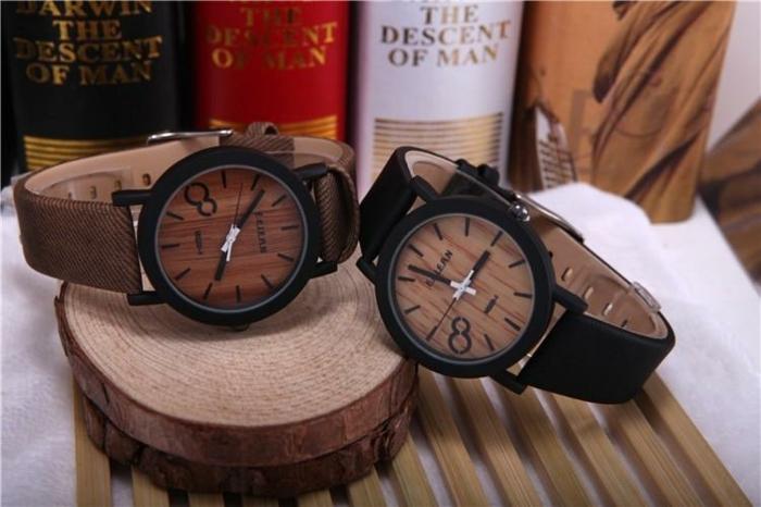 accesorios originales e inusuales para ropa casual para hombre, dos diseños de relojes hombre