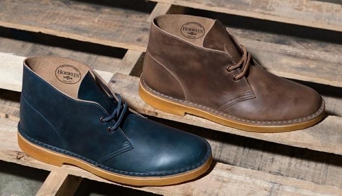 botas modernas hombre en color marrón y azul, botas de cuero super elegantes, ideas de ropa casual para hombre