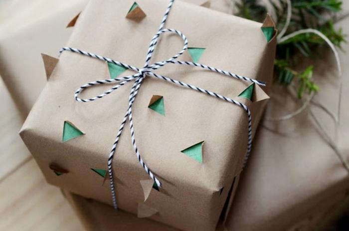 como hacer una caja de papel paso a paso, originales ideas sobre como envolver un regalo para Navidad