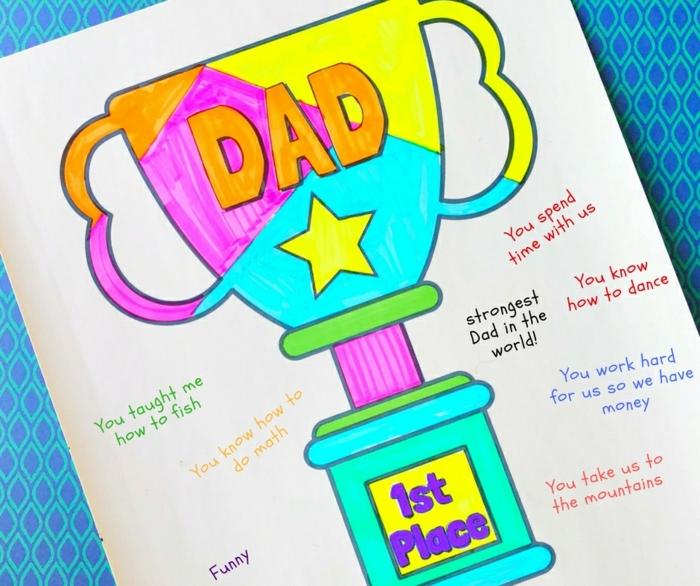 manualidades para el dia del padre, cuadro decorativo para el día del padre, más de 80 propuestas