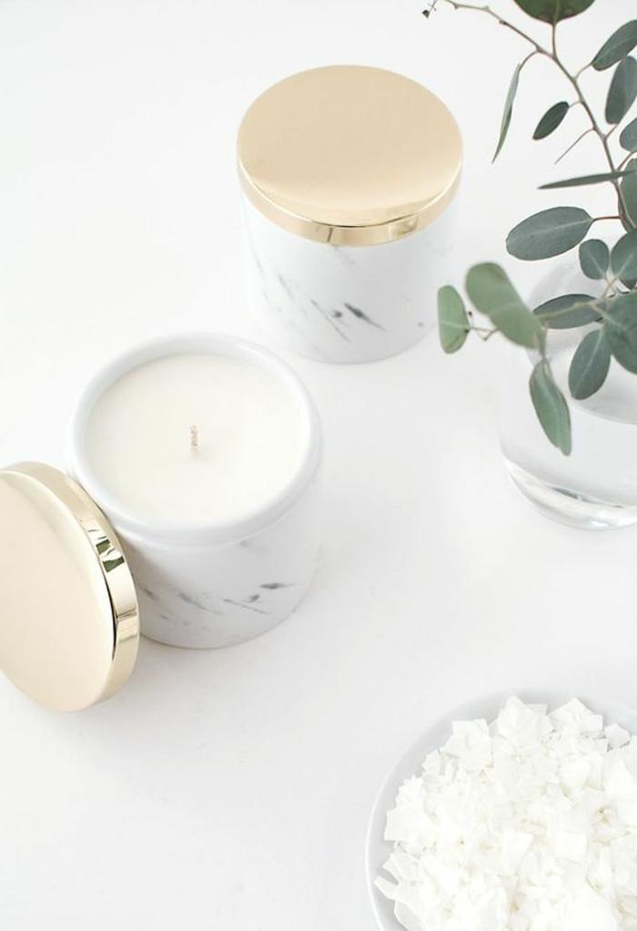 preciosas velas aromáticas hechas a mano, centro de mesa hecho a mano, cómo hacer velas en 60 imagines