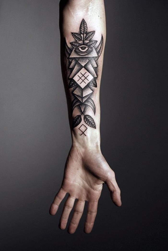 tatuajes lineales super originales en más de 60 fotos, tattoo antebrazo original hombre
