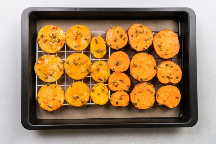 papas y batatas fritas al horno, el mejor chips casero receta paso a paso, ideas de recetas para aperitivos y entrantes
