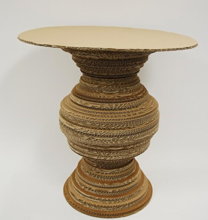 alucinante diseño de mesa DIY hecha con cartón, muebles decorativos super bonitos, 60 ideas originales