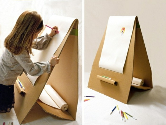 muebles con carton y detalles decorativos con materiales reciclados, ideas originales para tu casa