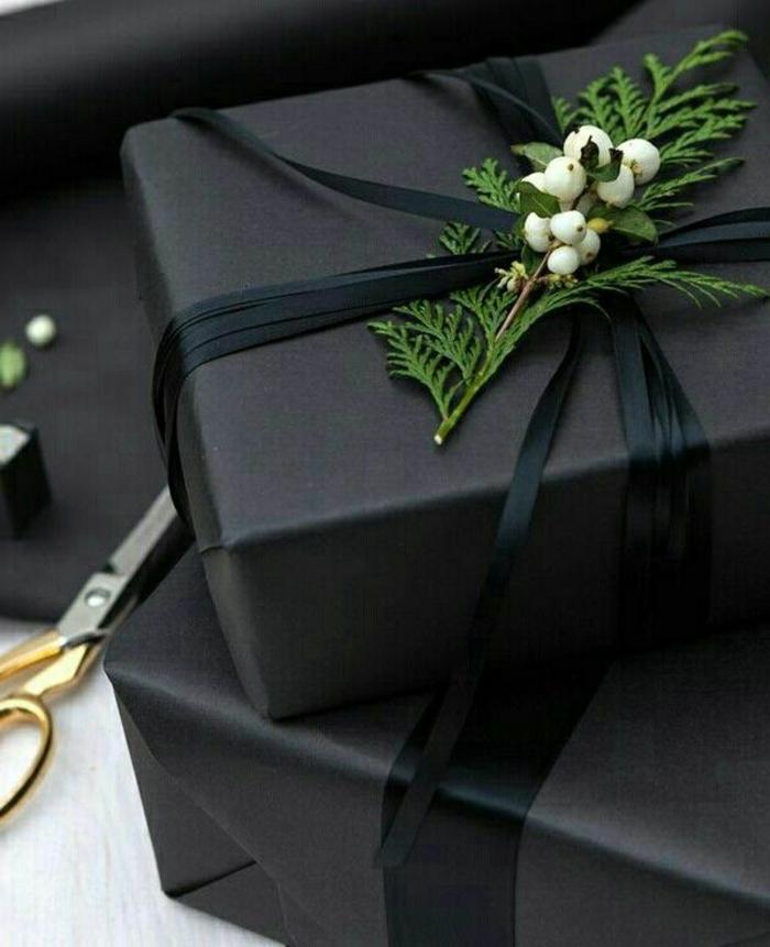 ideas sobre como hacer una caja de papel y cómo envolver los regalos en casa, decoración rama de pino