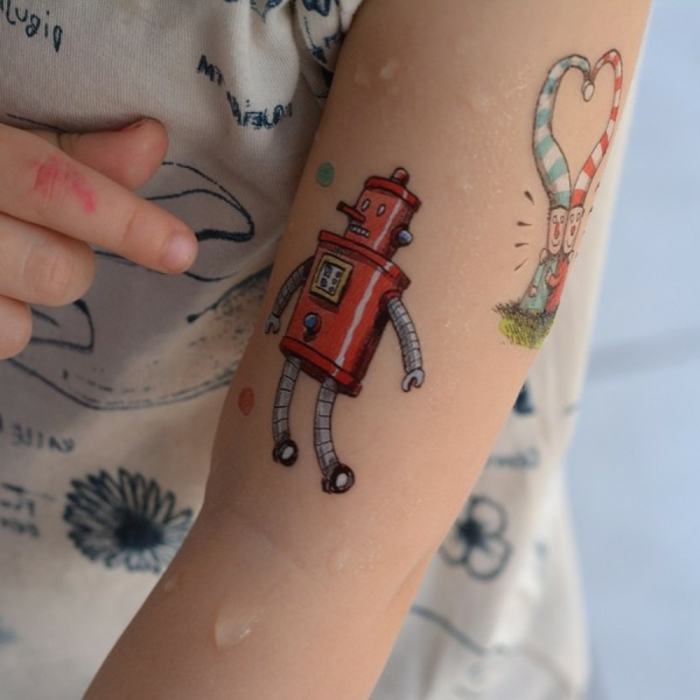 bonitas ideas de tatuajes para niños adhesivos, ideas sobre cómo hacer un tatuaje falso en casa