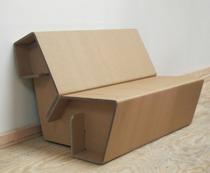 sofá hecha de cartón funcional, muebles con carton originales paso a paso, bonitos diseños DIY