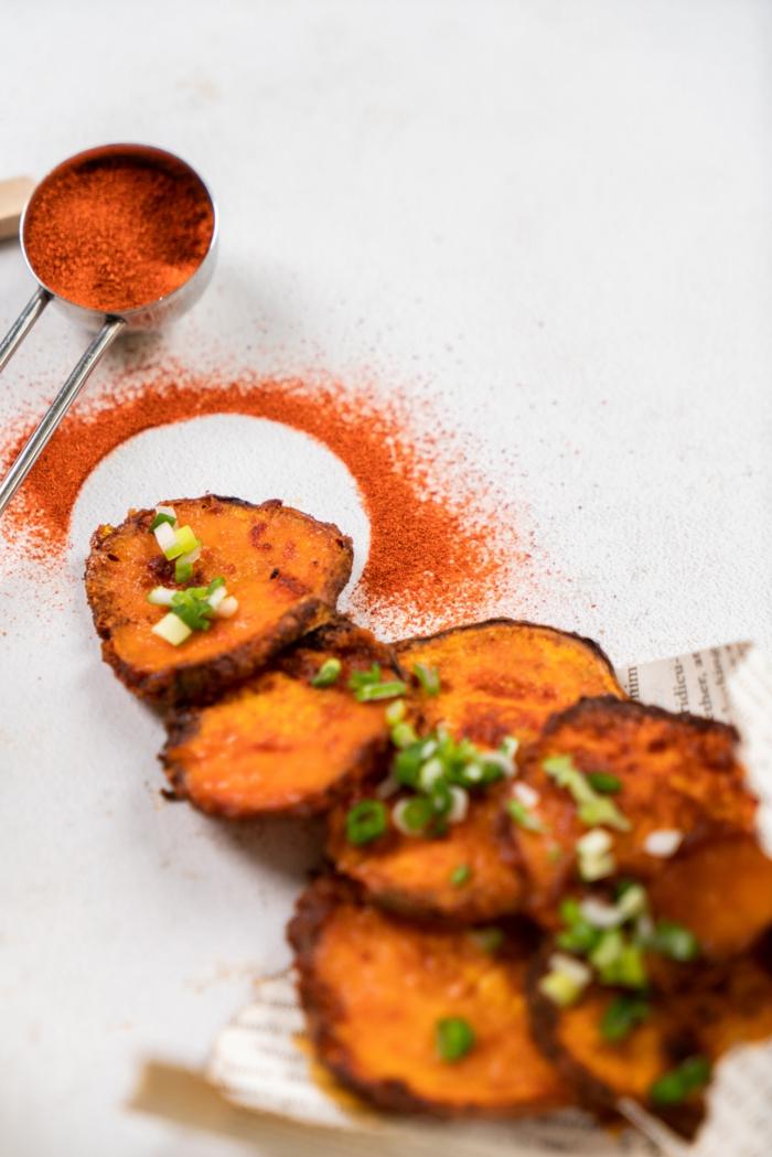 papas fritas con pimienta roja, sal y cebollin, la mejor receta de papas frtias caseras con fotos paso a paso, entrantes faciles y rapidos