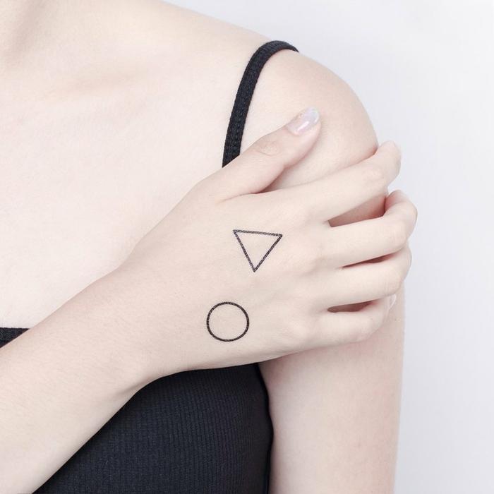 tattoos adhesivos geometricos, tatuajes para niños y adultos con pegatinas, tattoos falsos originales