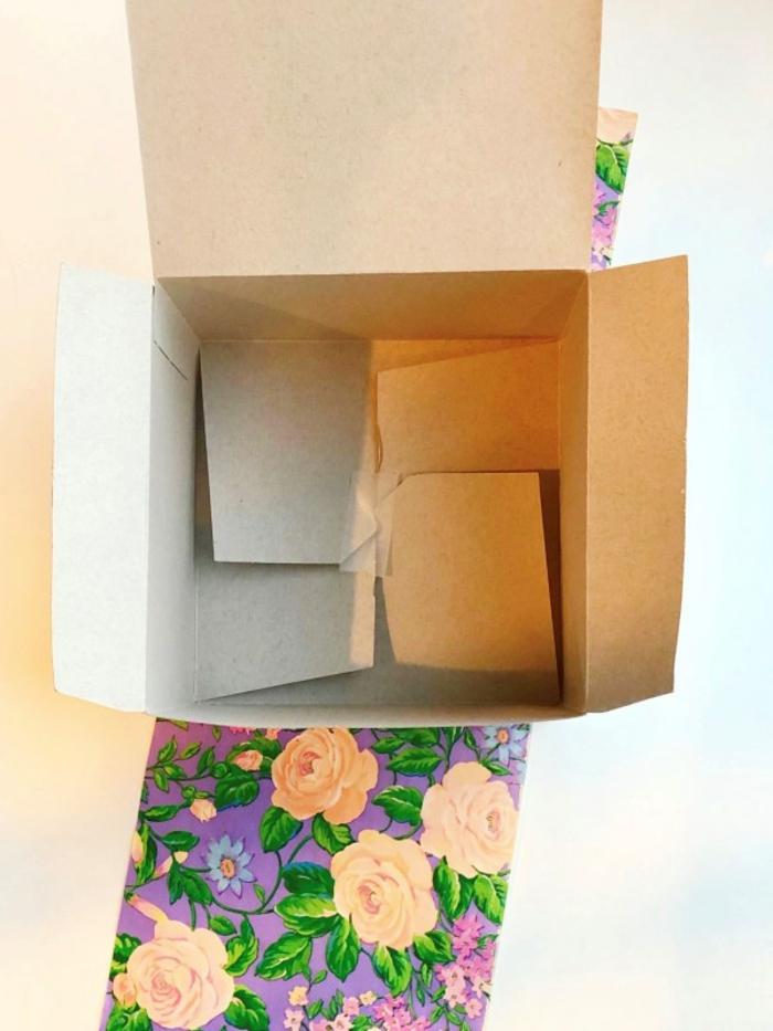 ideas sobre como hacer una caja de papel con tutoriales, caja de cartulina con flores paso a paso