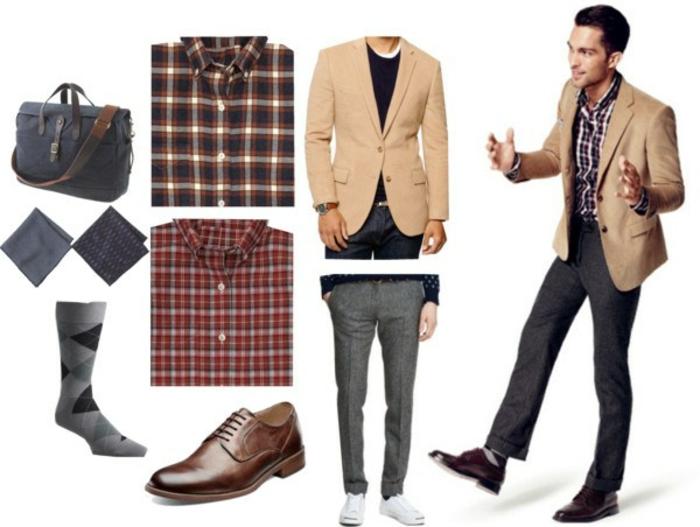 cómo escoger un outfit casual y elegante, ideas de ropa informal hombre, camisas en cuadros, pantalones pitillo
