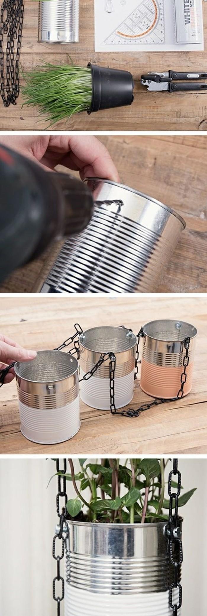 manualidades con latas de refresco super originales, como hacer macetas DIY de latas recicladas