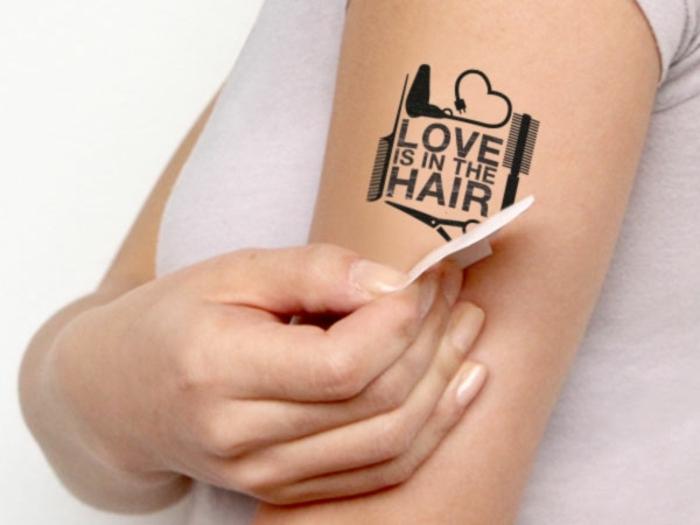 tipos de tatuajes temporales, cómo imprimir un tattoo temporal en papel adhesiva paso a paso