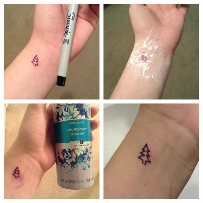 cómo hacer un tatuaje plantilla paso a paso en fotos, tattoos bonitos minimalistas para hombres y mujeres