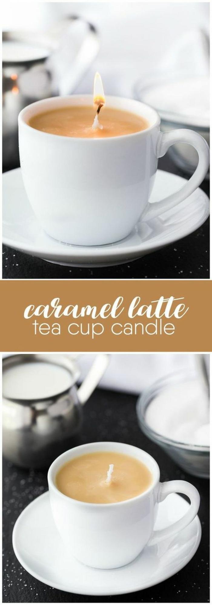 cómo hacer velas caseras en tazas de café, originales propuestas de velas DIY para decorar la casa