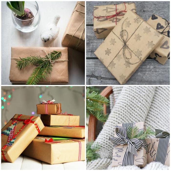 cuatro ingeniosas propuestas sobre cómo envolver los regalos de Navidad de manera creativa