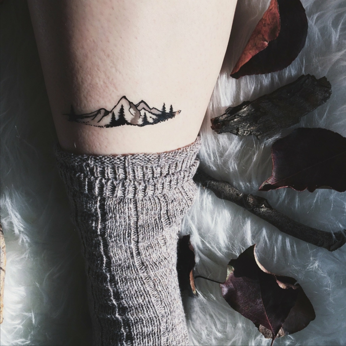 propuestas de tatuajes falsos para los amantes de la naturaleza, bonitos diseños de tattoos
