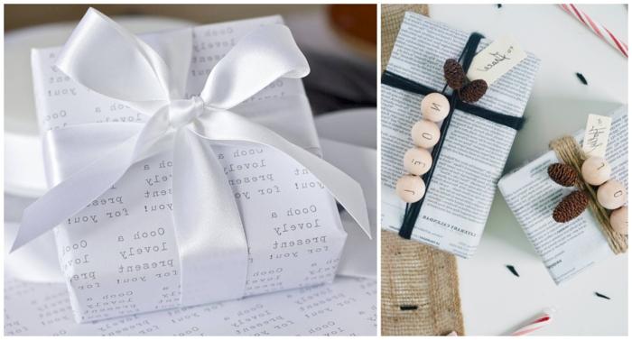 decoración de regalos con papel craft y bonitos detalles, como envolver regalos paso a paso