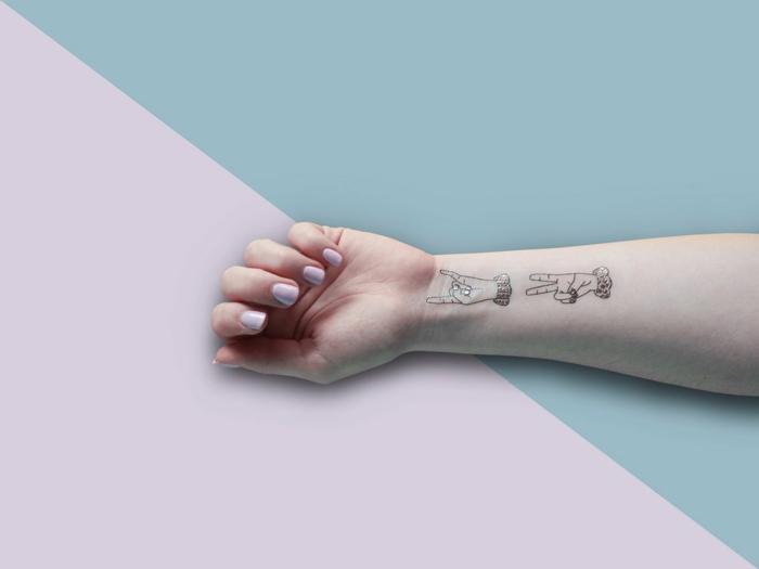 temporales tatuajes antebrazo, diseños originales de tattoos adhesivos para hacer en casa