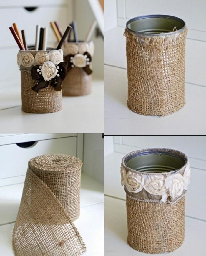 reciclar latas de conserva para hacer bonitas cajas de almacenamiento DIY paso a paso