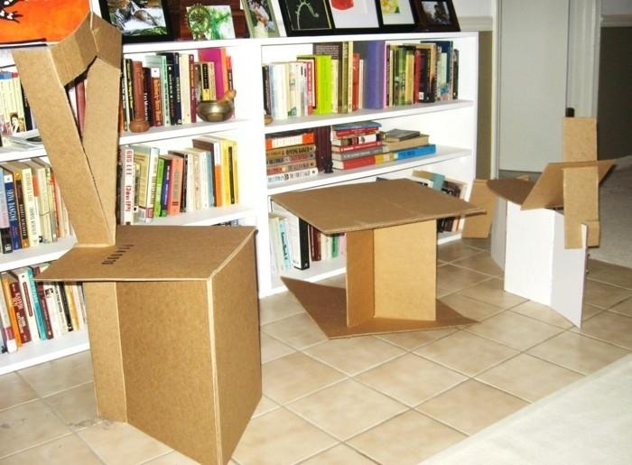 como hacer muebles de carton de diseño único, tutoriales de proyectos de bricolaje fáciles