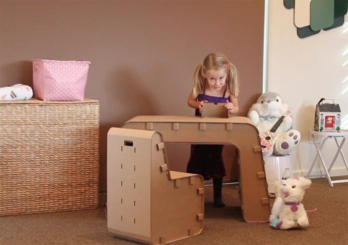 ideas de muebles de carton patrones, bonitos muebles de cartón para habitaciones infantiles