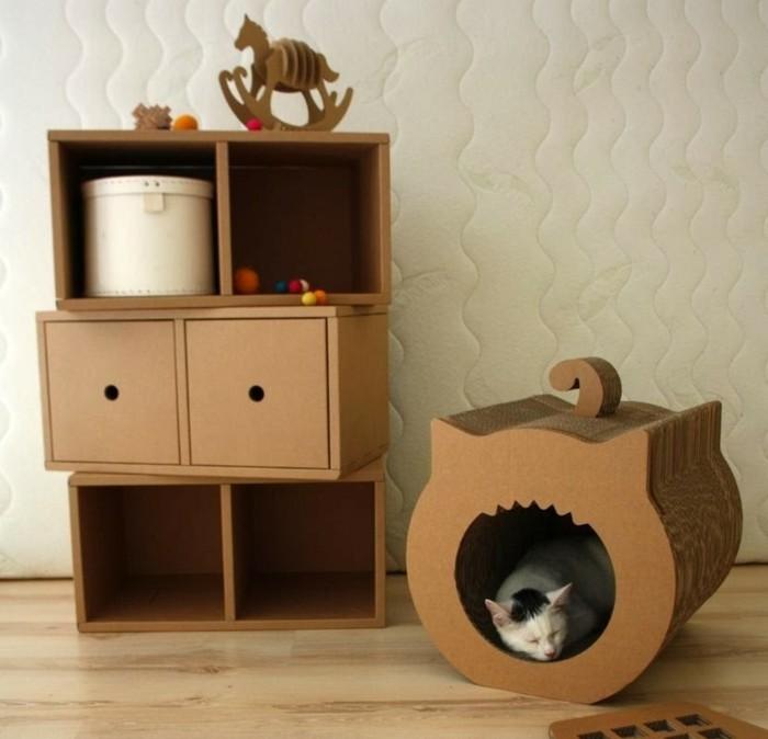 preciosas ideas de muebles DIY de cartón, muebles de carton patrones originales en imagines