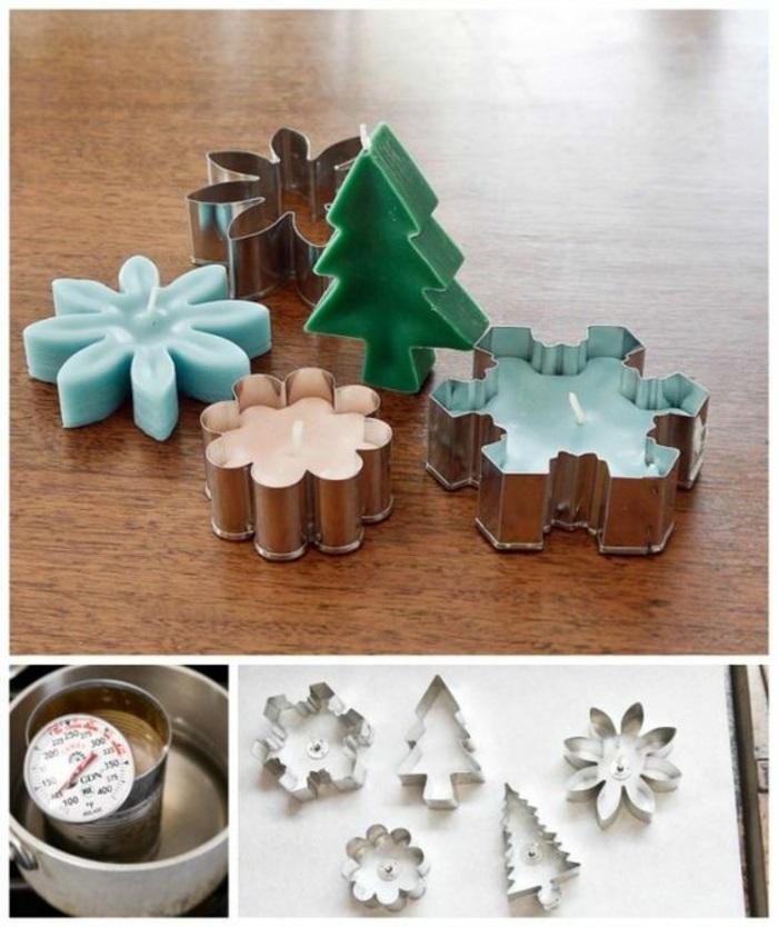 cómo hacer velas aromaticas en formas originales, manualidades originales para decorar la casa en Navidad