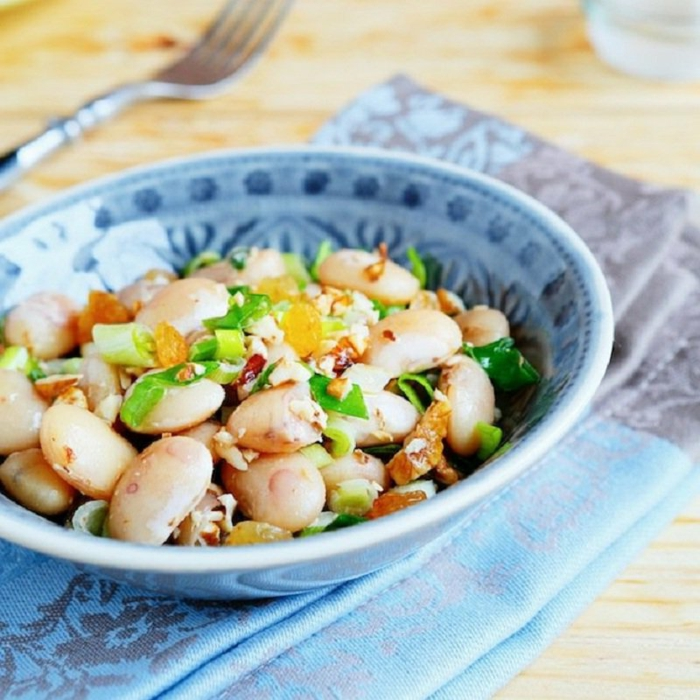 ideas de ensaladas para un menu saludable, ensalada con frijoles y verduras, 80 ideas de ensaladas en fotos