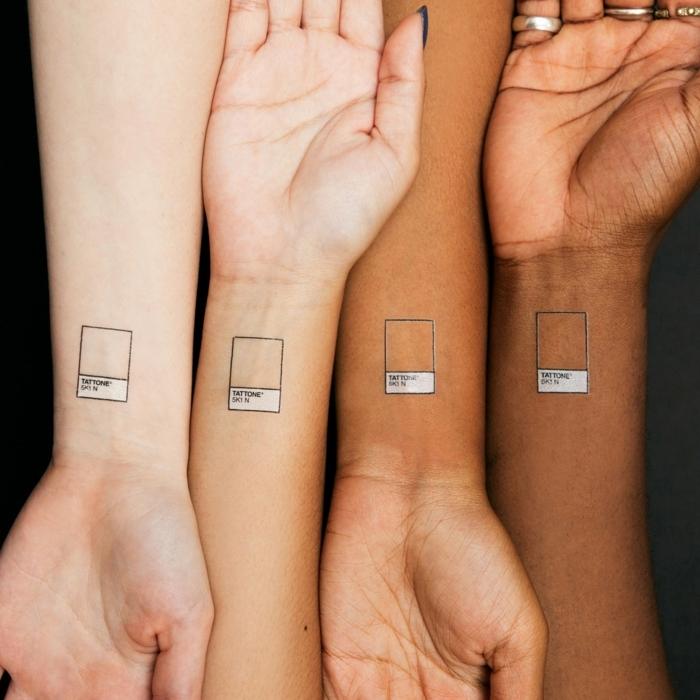 divertidas propuestas de tatuajes falsos para mujer, más de 100 imagines de tattoos temporales