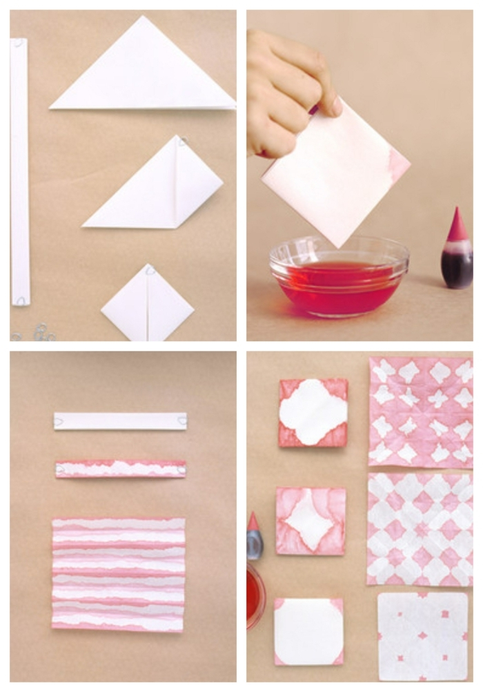cómo hacer papel embalaje decorada a mano paso a paso, trozos de papel empapados en pintura