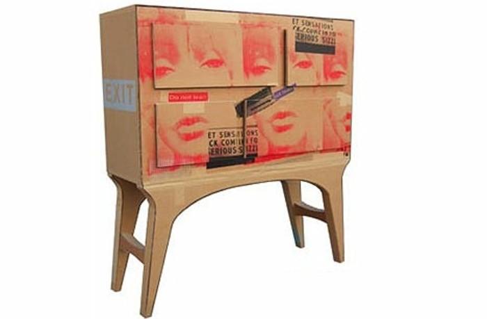 como hacer un estante de carton paso a paso, pequeño cofre de cartón en estilo vintage