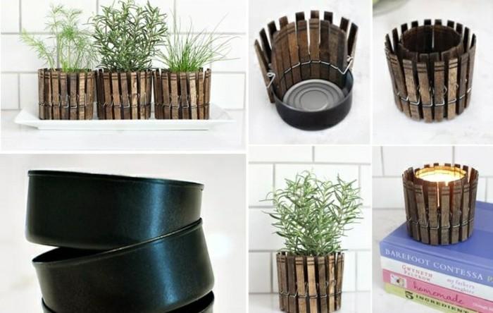 pequeñas macetas DIY para decorar el balcón, latas de conserva decoradas paso a paso