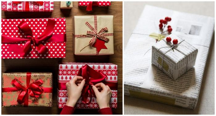 ideas para hacer embalaje navide;o DIY, bonitos detalles para hacer e mano paso a paso