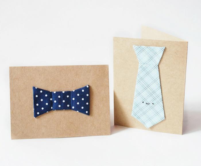 regalos caseros originales para regalar a tu padre, tarjetas con detalles originales en forma de corbata