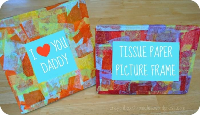 marcos originales DIY con mensajes bonitos para del día del padre, ideas de manualidades para regalar