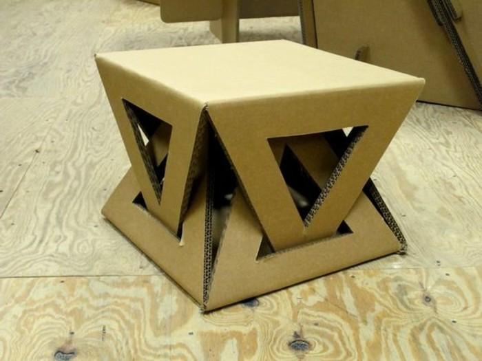originales ideas de mesa de carton, mesa baja de cartón mesa, cómo decorar la casa con muebles DIY