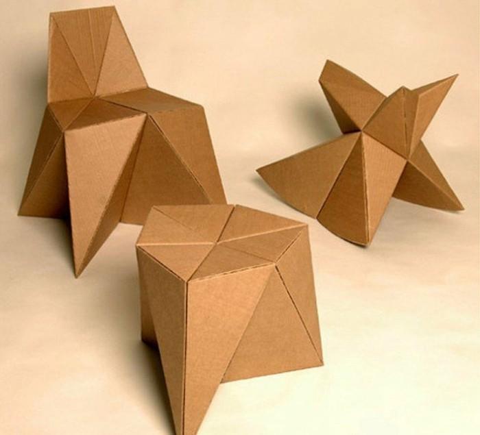 pequeños muebles hechos de carton super originales, 60 imagines de muebles de carton