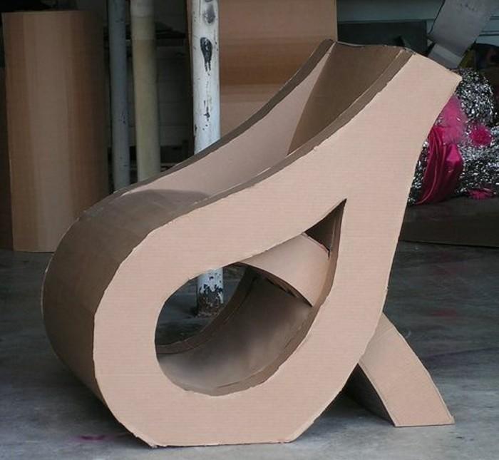 diseños super originales de sillones de cartón, imagines de muebles de carton, muebles reciclados