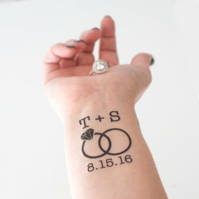 ideas de tatuajes personalizados para parejas, cómo puedes hacer un tatuaje temporal casero