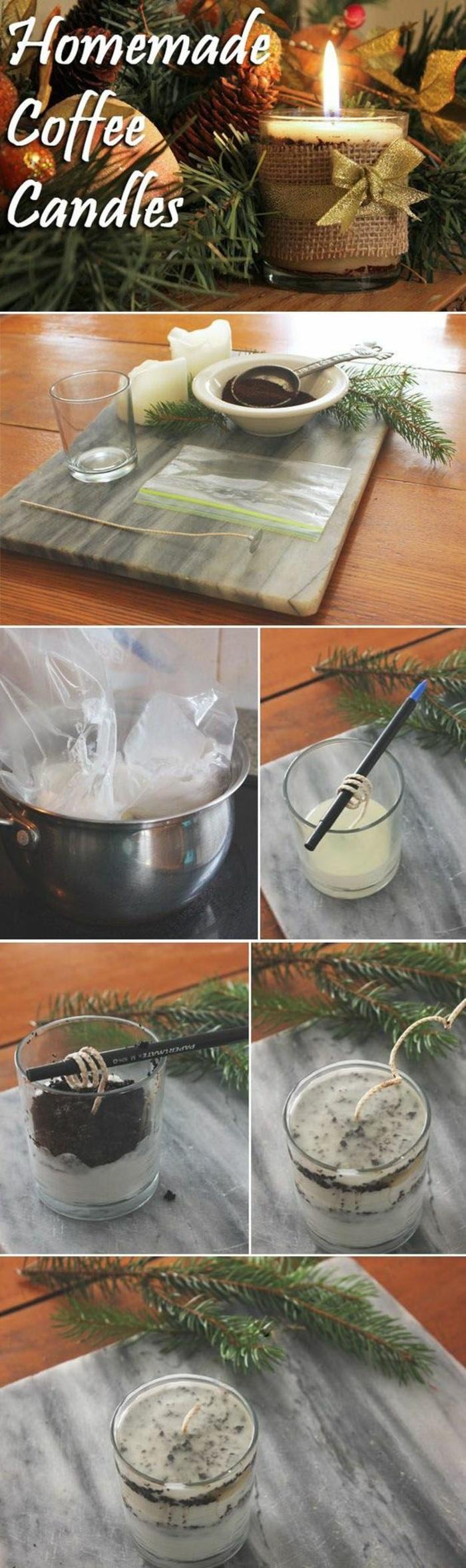 propuestas en imagines sobre cómo decorar velas aromáticas con restos de velas viejas paso a paso