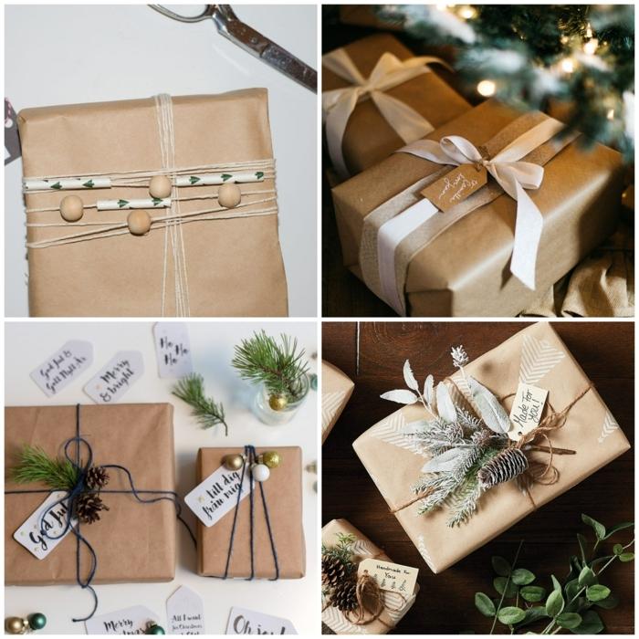 cuatro alucinantes propuestas sobre cómo envolver un regalo en papel cdraft y bonitos detalles decorativos
