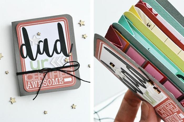preciosas ideas de manualidades para el dia del padre, monedero de cartulina tipo tarjeta