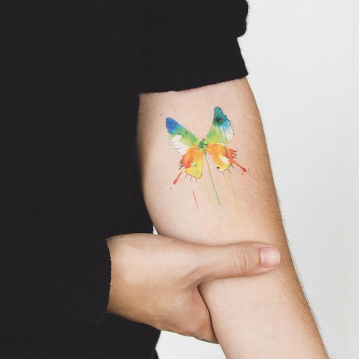 alucinantes ideas de tatuajes en el antebrazo en colores para hombres y mujeres, tattoo pintura acuarela