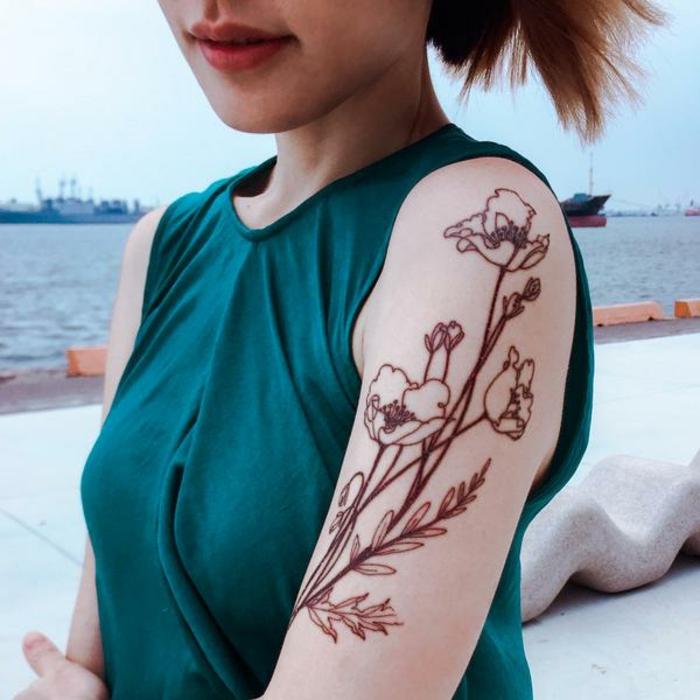 tatuajes henna inusuales, las mejores propuestas de tattoos no permanentes en mas de 100 fotos