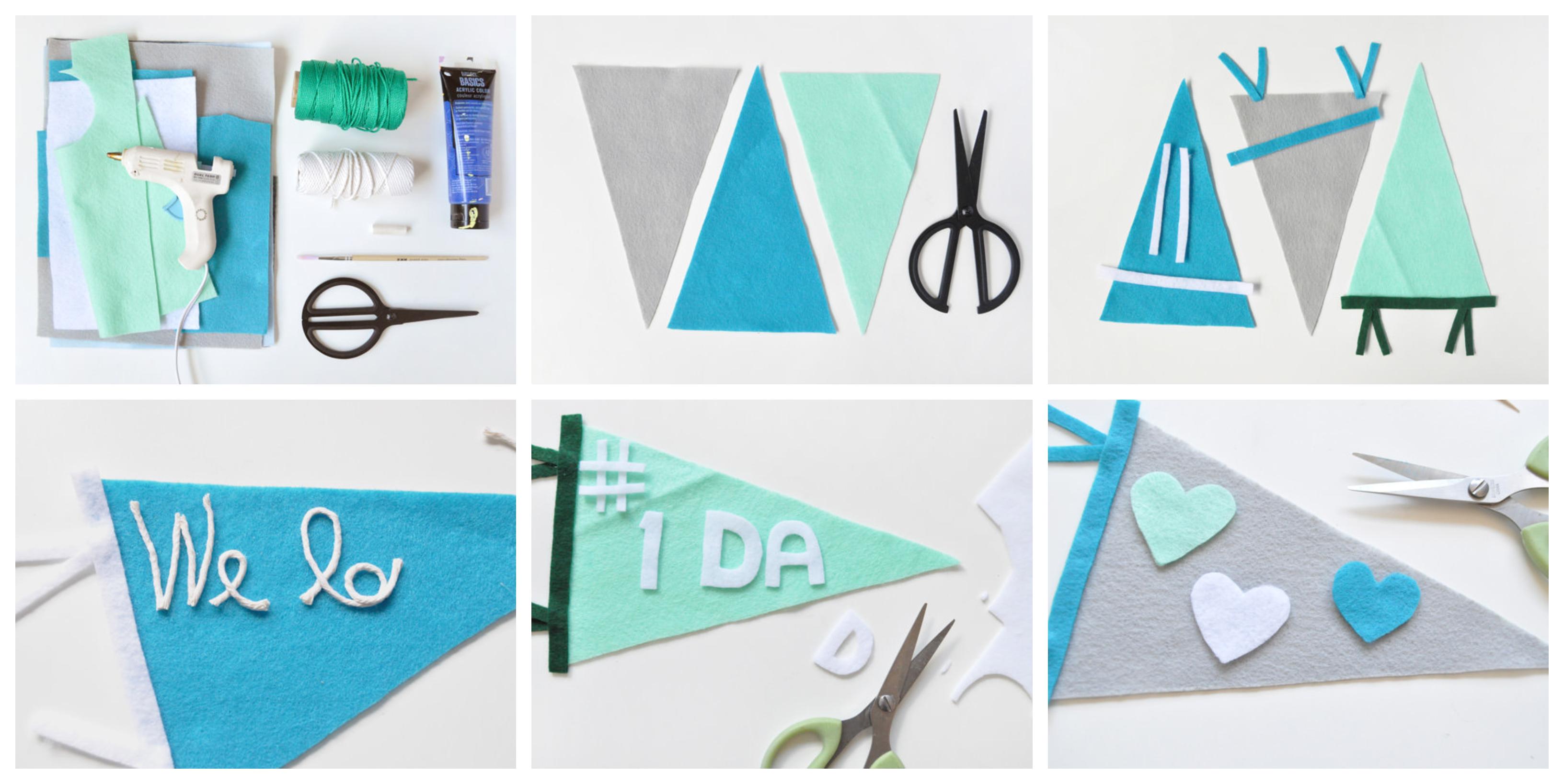 como hacer una bonita decoración de fieltro para la pared paso a paso, regalos para el dia del padre hechos a mano