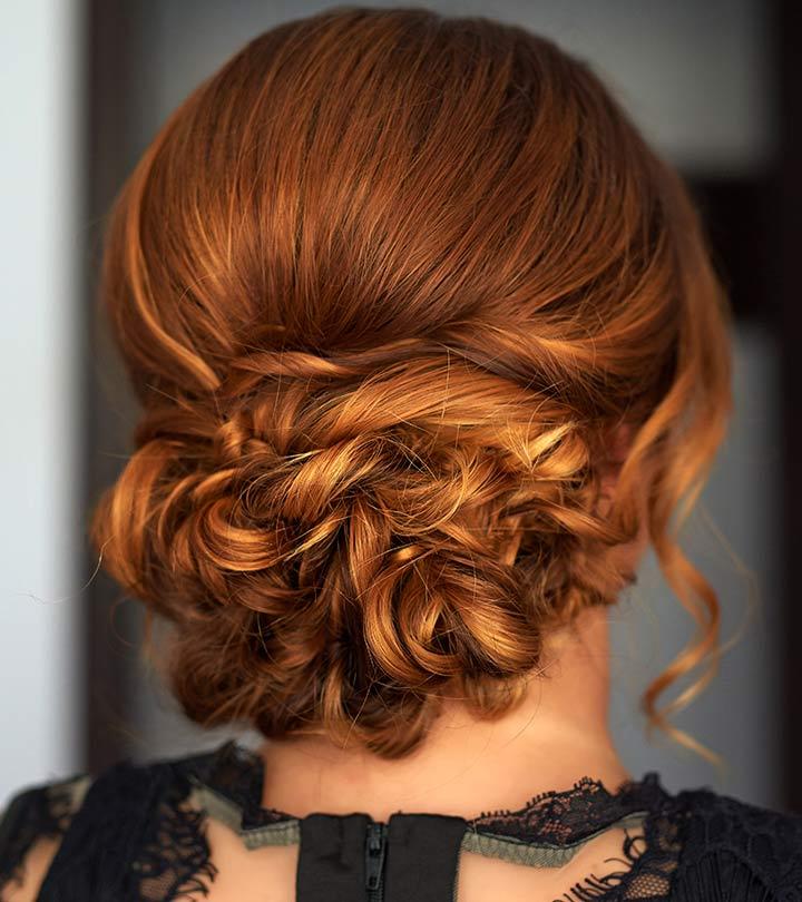 ideas originales de peinados para ir a una boda fáciles y rápidos, recogido bonito cabello largo