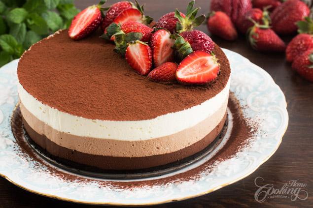 las mejores imagines de tartas de tres chocolates con algunas recetas, tartas ricas y fáciles de hacer